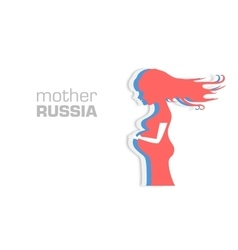Card Mother Russia vector image