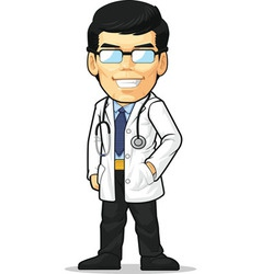 Cartoon of Doctor vector image