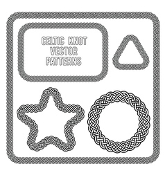 Celtic knot patterns vector