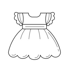 child dress line icon vector image