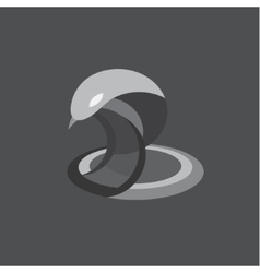 Cobra snake reptile flat on vector image