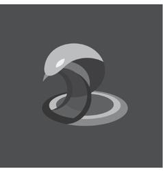Cobra snake reptile flat on vector