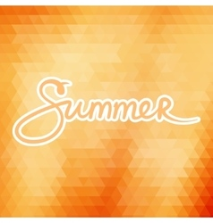 Colorful Geometric Background with Text Summer vector