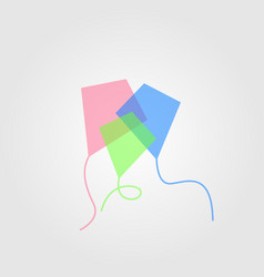 colorful kite tail overlapping color vector image