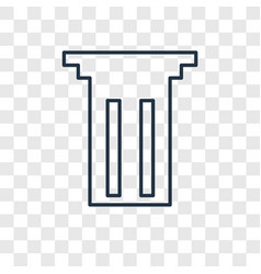 column concept linear icon isolated on vector image