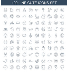 Cute icons vector