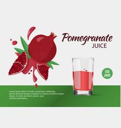 Design template for ads pomegranate juice vector
