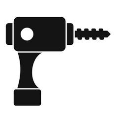 Electric drill icon simple style vector