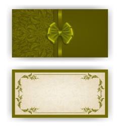 Elegant template for luxury invitation vector image