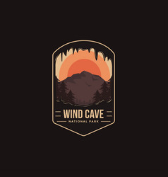 Emblem patch logo wind cave national park vector