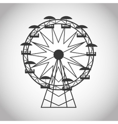 Ferris wheel of carnival design vector