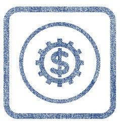 financial industry fabric textured icon vector image