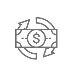 Flexible loan line icon isolated on white vector