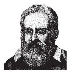 Galileo vintage vector
