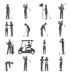 Golf People Black vector