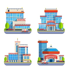 Hospital Flat Isolated Icons vector image