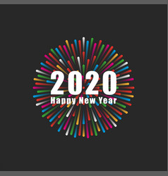 inscription number 2020 logo and happy new vector image