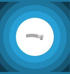 isolated coiled wire flat icon corrugated pipe vector image