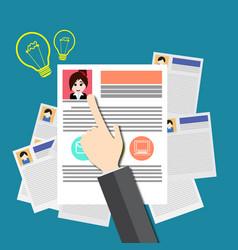job search and job market vector image