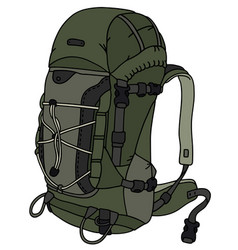 Khaki large backpack vector