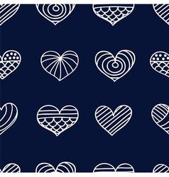lace heart dark vector image