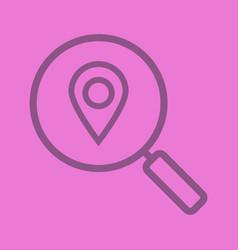 Location search color linear icon vector