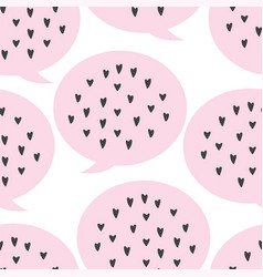 lovely seamless background pattern with hearts in vector image