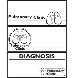Lungs sign medical background vector image