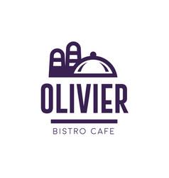 menu cover sign logo design vector image