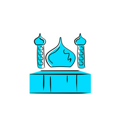 Mosque logo design vector