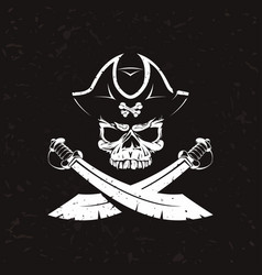 old pirate icon vector image