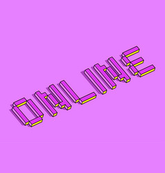 online 3d background vector image