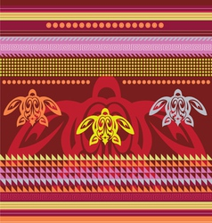 ornamental african style motive vector image