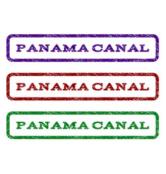 Panama canal watermark stamp vector
