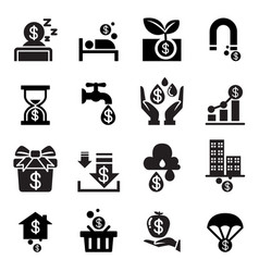 Passive income icon vector