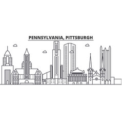 Pennsylvania pittsburgh architecture line skylin vector