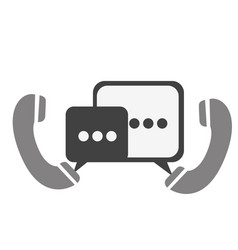 Phones with chat bubbles icon vector