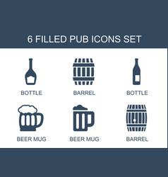 Pub icons vector