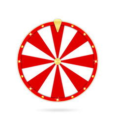realistic wheel fortune isolated on white vector image