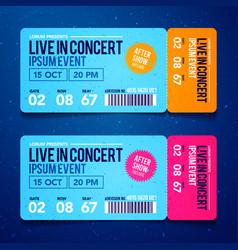 rock party festival ticket design template vector image