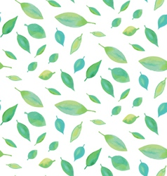 Seamless watercolor leaf pattern vector