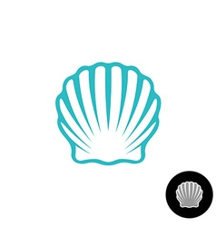 Seashell logo Scallop seashell elegant symbol Sea vector image