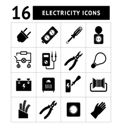 Set icons electricity vector