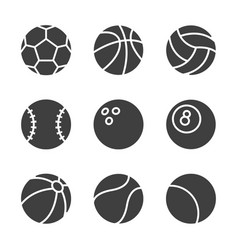 set of balls icons vector image