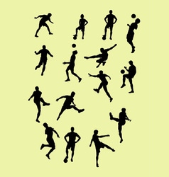 Silhouettes Football Players vector