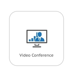Video Conference Icon Business Concept Flat vector image