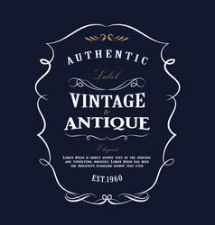 Western hand drawn frame design vintage label vector