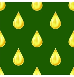 Yellow Drops Seamless Pattern vector