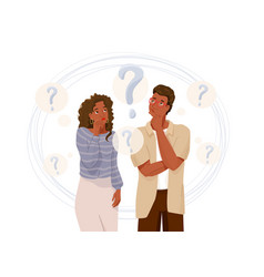 young african american couple think about problem vector image