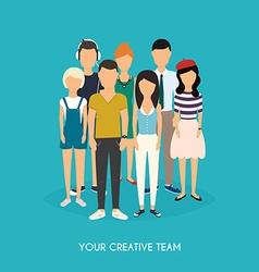 Your creative team Business Team Teamwork Social vector image